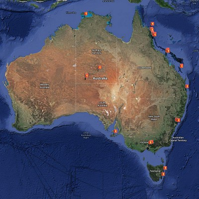 See a visual itinerary for Australia