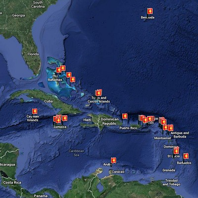 See a visual itinerary for Caribbean