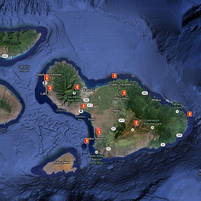 See a visual itinerary for Maui, Hawaii