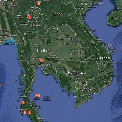 See a visual itinerary for Thailand