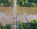 Suspension bridge to the Star Beds camp - Loisaba
