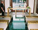 Inside the overwater wedding chapel - InterContinental Bora Bora Resort & Thalasso Spa